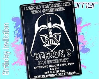 Star Wars InvitationStar BirthdayStar PrintableDarth Vader InvitationDarth BirthdayDesign 2