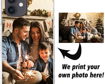 Personalized Picture Design Your Own Customized Photo Custom Phone Case Cover Compatible with iPhone Samsung Galaxy