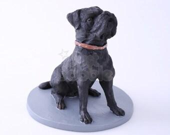 Custom Bobbleheads: Black Pet Dog   Pet Custom Bobblehead   Bobbleheads as Unique Gifts for Birthday, Wedding, Anniversary