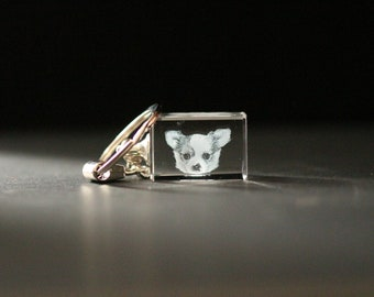 3D Crystal Gift: Rectangle Keychain   Crystal as Unique Gifts for Birthday, Wedding, Anniversary