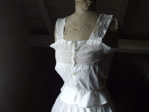 Victorian camisole, corset cover. Cotton and lace. - image 1