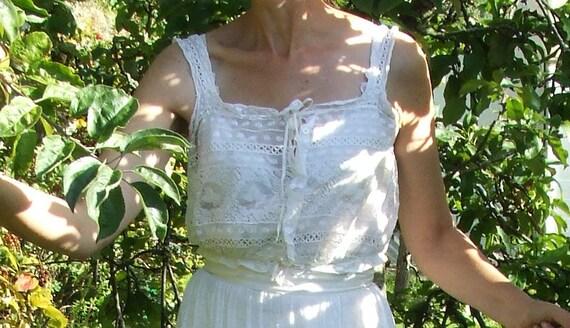 Antique victorian, edwardian lace camisole, corset