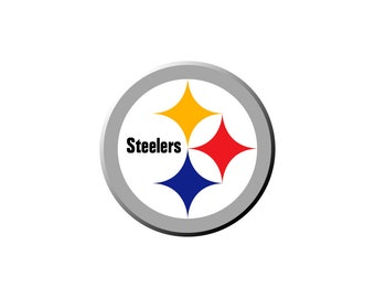 photograph relating to Printable Steelers Logo called Steeler brand Etsy