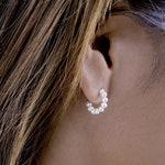 Pearl Hoop Earrings- Wedding Earrings-Natural Pearl Earrings- Minimalist Earrings- Bridesmaid Gift- Mini Pearl Earring- STD109