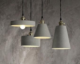 Stone design industrial lamp workshop lighting Concrete pendant lighting cylindrical shape