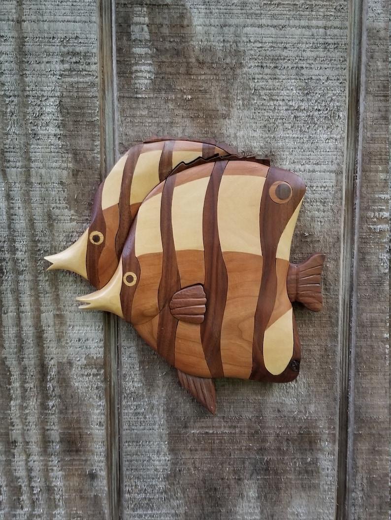Tropical Fish Intarsia Wall Art