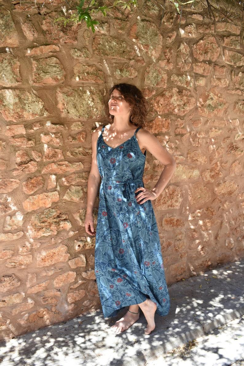 MoonLit Maxi Dress in Blue Heaven