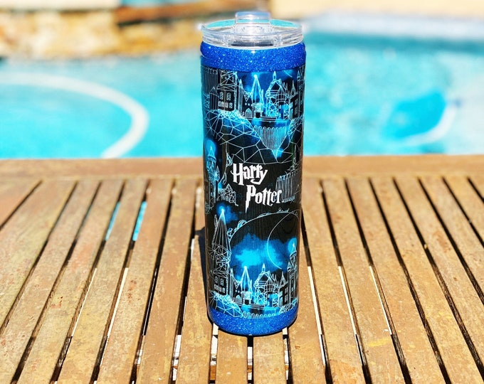 Ready to Ship 30oz  Skinny Wizard Tumbler with Straw - SAME DAY SHIPPING