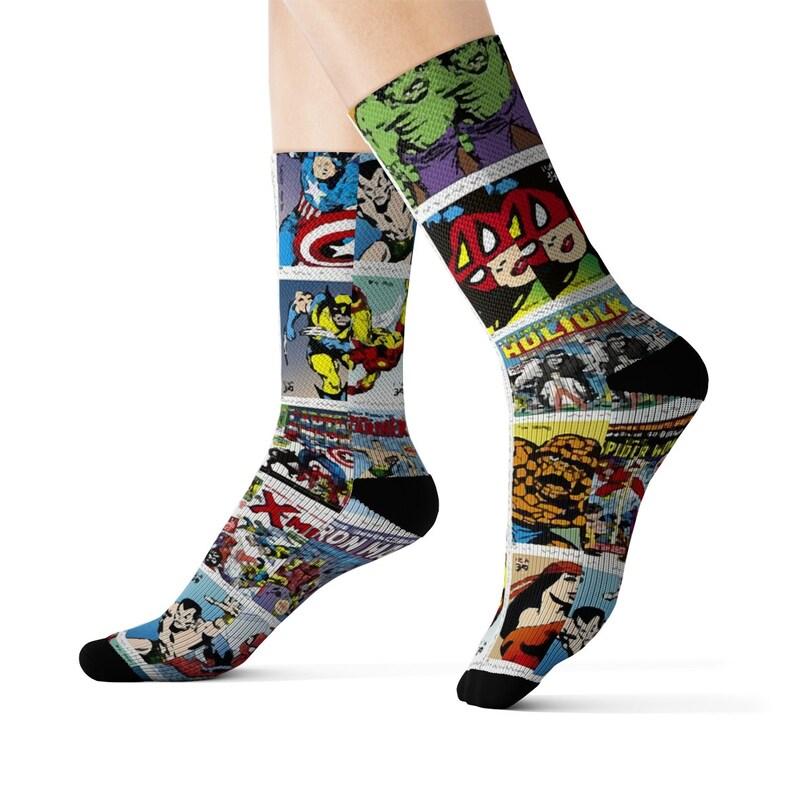 Marvel Comic Cover Dress Socks image 0