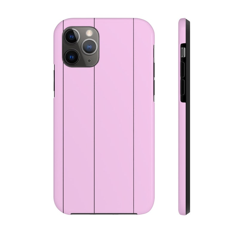 Pink Case with Black Pinstripes Mate Tough Phone Case image 0