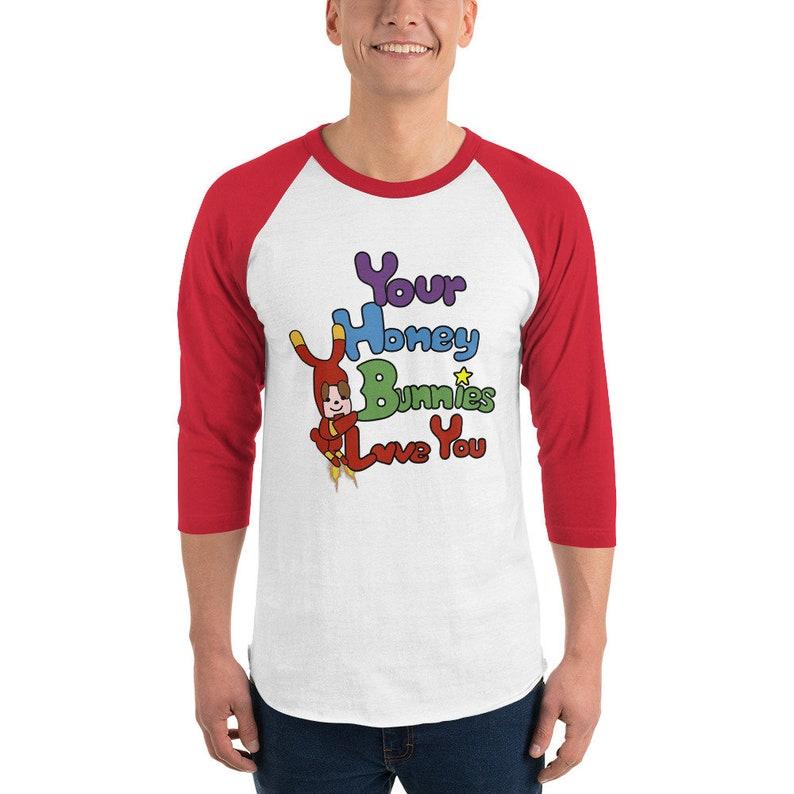 RDJ's Honey Bunnies Red 3/4 Sleeve Baseball Shirt image 0
