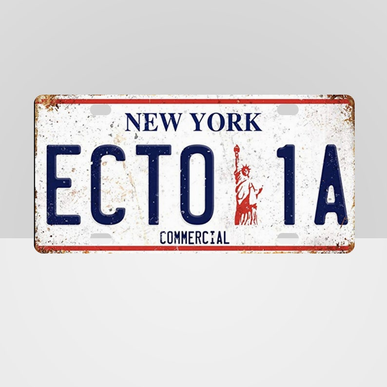 Ecto 1A Ghostbusters 2 New York License Plate image 0