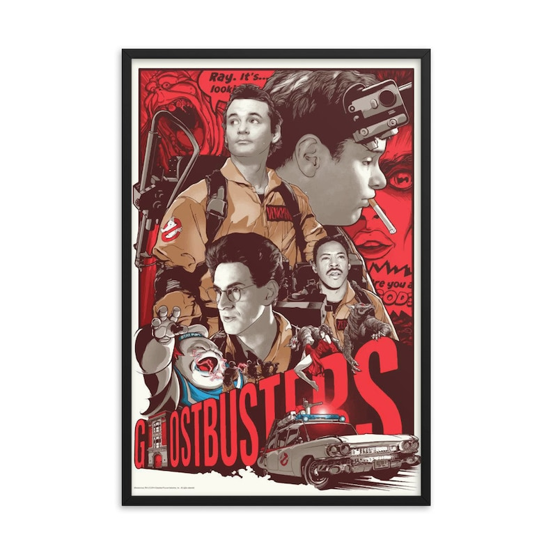 Ghostbuster Retro Art Print image 0