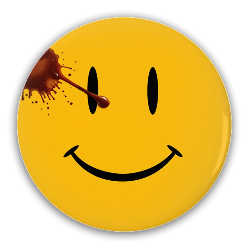 The Watchmen Smiley Pin-Back Button image 0