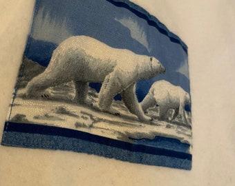 90s Polar Bear Ski Track Canada Pullover Adult Size L Winter Love