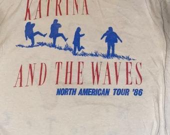 Vintage 1986 Katrina and the waves tour concert T-shirt medium large white tee 80s rock