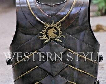 Medieval Bahubali Body Steel 18 Gauge Jacket ~ Armor Cuirass Steel Jacket~ Armour Breastplate Jacket ~ Knight Crusader Larp Armour Jacket