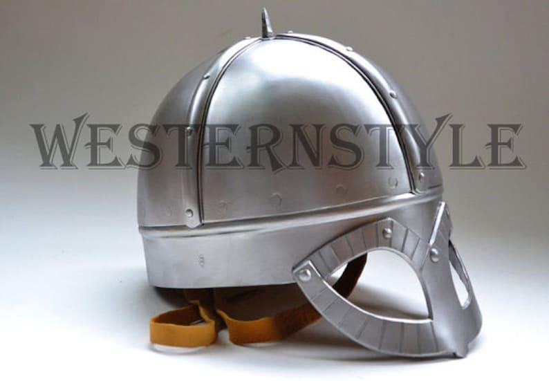 Medieval New Norman Viking Spectacle Armour Helmet ~ Battle Ready Helmet~ Hand Forged Steel Helmet  Gift Items