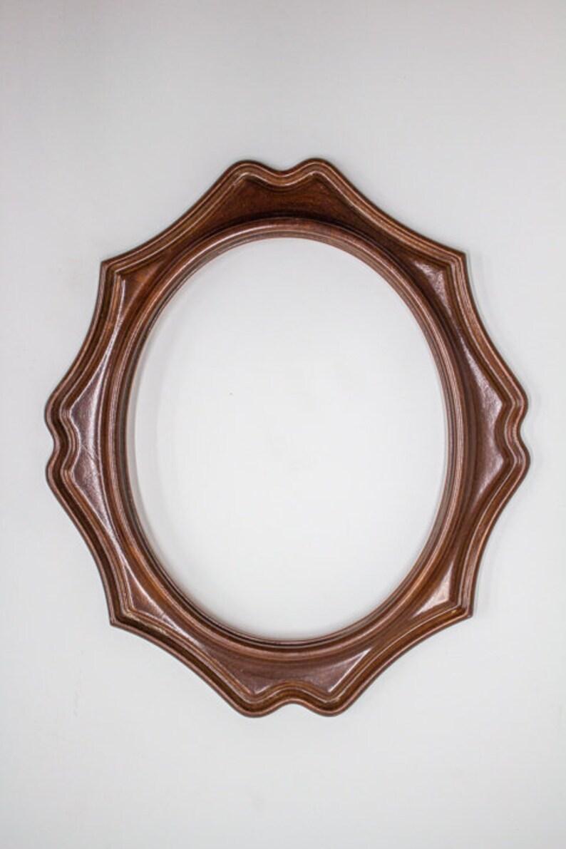 wood frame Antique wood frame oval frame 14x12 inch frame