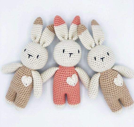 Crochet Rabbit, Crochet Toy, Amigurumi, Crochet Bunny, Baby Gift, Newborn Gift, Organic Toy, Stuffed Bunny