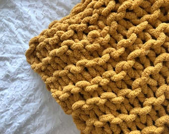 Chunky Knit Blanket, Chunky Throw Blanket, Chunky Blanket, Big Blanket, Knit Blanket, Knit Throw Blanket, Baby Throw Blanket, Arm Knit