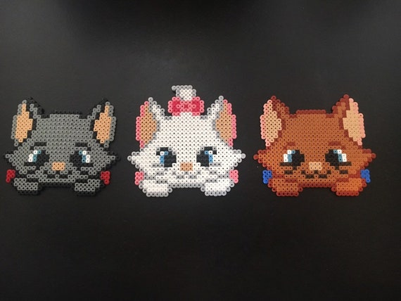 The Aristochats Hama Kittens Cartoon Disney Berlioz Toulouse And Marie Brothers And Sisters Too Cute Handmade