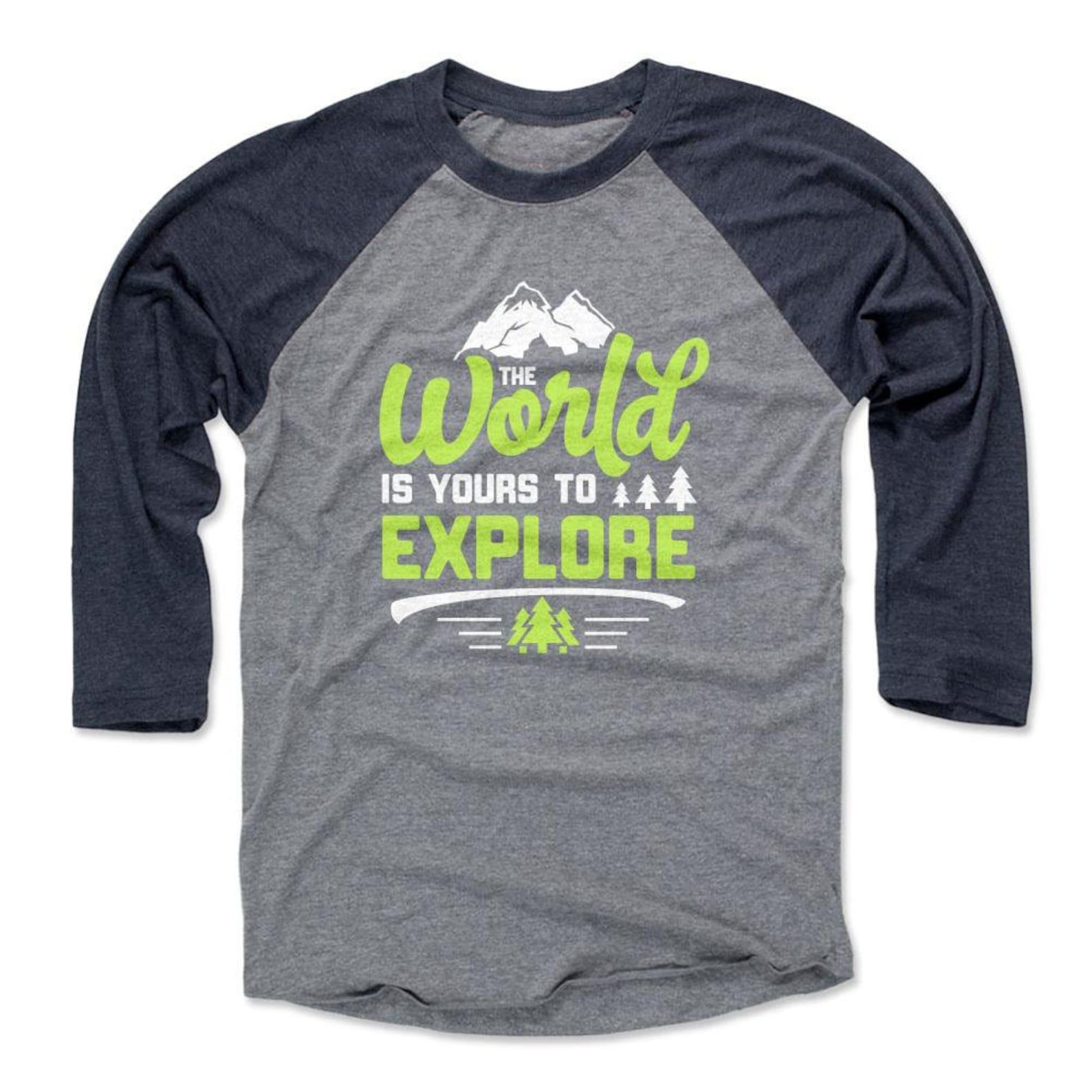 Adventure Lover Mens Baseball T-Shirt Exploring | Etsy