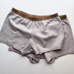 Gray shorts Mens linen shorts Mens lounge shorts Mens sleep shorts Mens summer shorts linen underwear shorts
