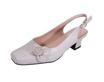 edcdb56c4a0e4 PEERAGE Cheryl Wide Width Bridal Shoes Women Slingback Comfort Shoes for  Wedding Bridesmaid Shoes Free Shipping
