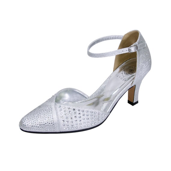 FLORAL Rebecca Bridal Shoes Women Wide Width Dress High Heel Shoes for Wedding, Bridesmaid Shoes. Free Shipping
