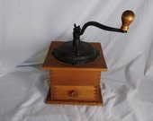 Wood Cast Iron Coffee Hand Grinder with Dovetail Construction