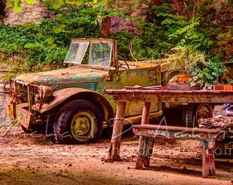 Fine Art Photography, Archival, Photography, Photo, Print, Eureka Springs, Rusty Jeep