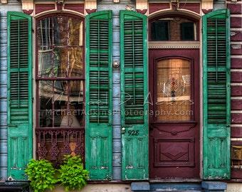 Fine Art Photography, Archival, Photography, Photo, Print, NOLA, French Quarter, Door