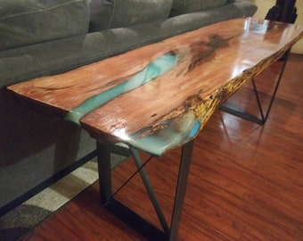 Live edge console table | Etsy