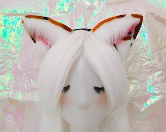 Light pastel glaxy rabbit ears kawaii fashion cosplay costume alternative grunge harajuku Neko kitten fairy kei cute pastel goth