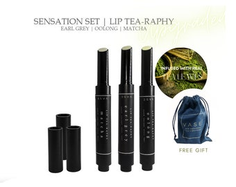 Vase Creation Healthy Tea Scented Moisturize All-Natural Handmade Lip Tea-raphy Lip Balm Therapy Matcha/Early Grey/Oolong