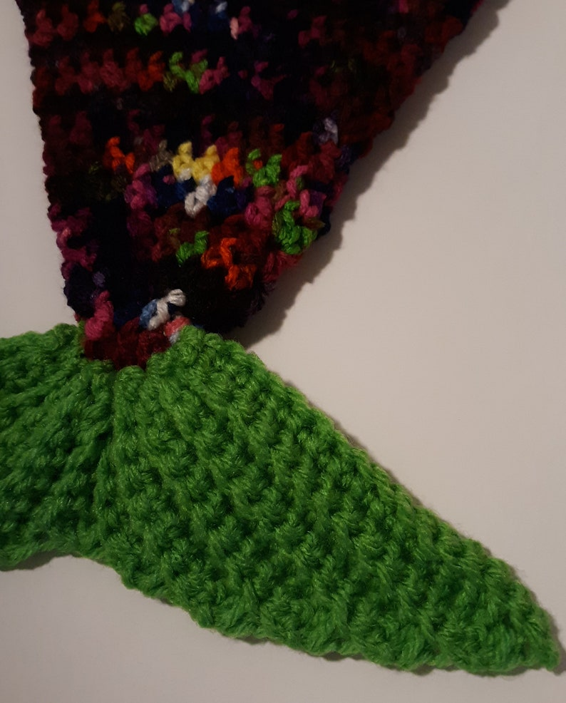 Multi-Colored with Green Handle /& Tail Perfect for the Child that Loves Mermaids! Handmade Crocheted Mermaid Tail Bag