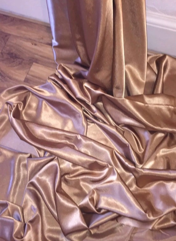 """1 mtr quality hot pink crepe back satin fabric..58"""" wide 147cm"""