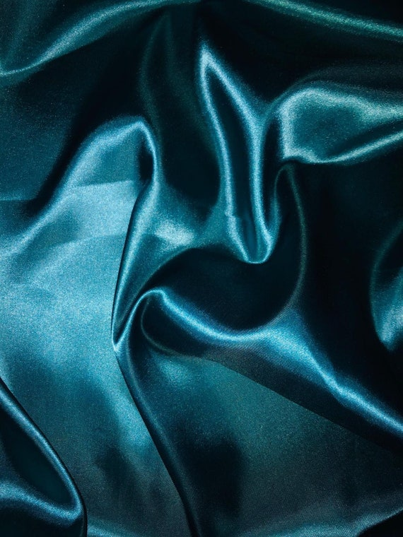 """147cm 1 mtr teal lining satin fabric..58"""" wide"""