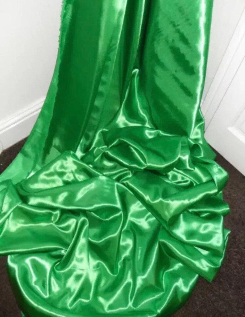 Emrald green bridal,dress,decoration crepe back satin fabric..58\u201d wide Sold by the mtr