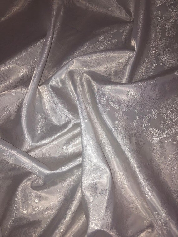"1 MTR BLACK PAISLEY SELF PRINT SOFT BROCADE FABRIC 58/"" WIDE SPECIAL OFFER"