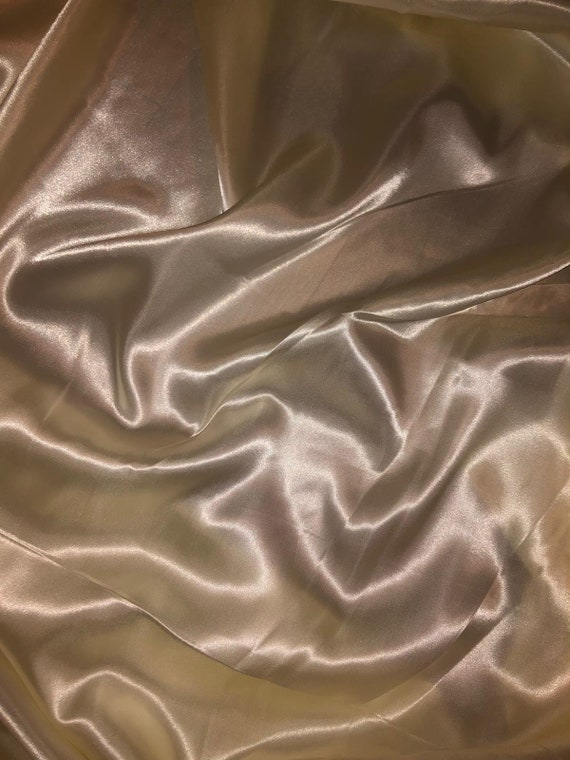 """3 MTR IVORY SATIN LINING FABRIC...58/"""" WIDE"""