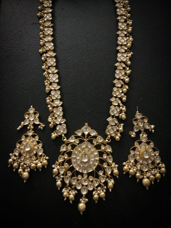 Indian Bollywood Designer Plaqué Or Bridal Fashion Jewelry Collier Set