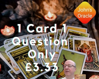 Quick Tarot Reading 24 hours PDF by E-Mail: 1 Question 1 Card