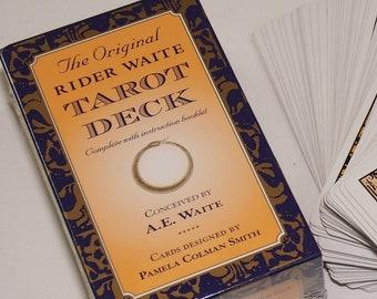 Original Rider Waite Tarot Card Deck - 78 cards + booklet