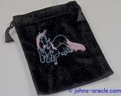 Black Velvet Tarot/Angel Card Bag - Unicorn