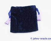 Purple Velvet Bag with Satin Lining Small