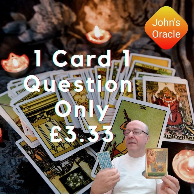 Quick Tarot Reading 24 hours PDF by E-Mail: 1 Question 1 Card image 1