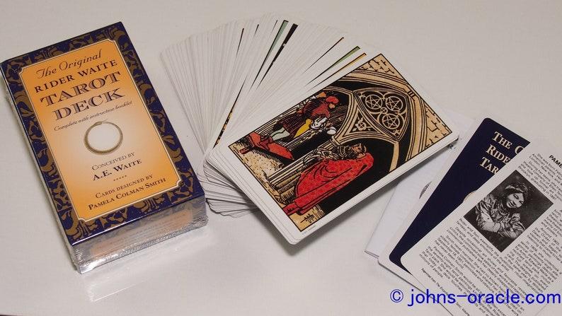 Original Rider Waite Tarot Card Deck  78 cards  booklet image 1