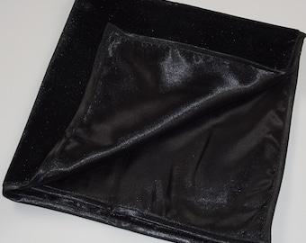 Tarot Reading Cloth Black Velvet with Satin Lining Large
